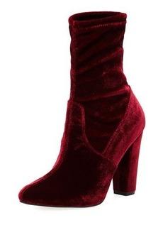 Neiman Marcus May Velvet Sock High Bootie