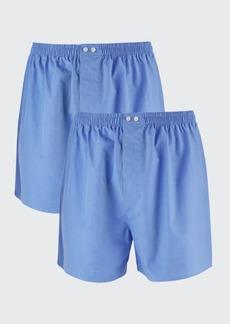 Neiman Marcus Men's 2-Pack Tagless Cotton Boxers