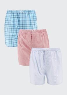 Neiman Marcus Men's 3-Pack Tagless Cotton Boxer Briefs