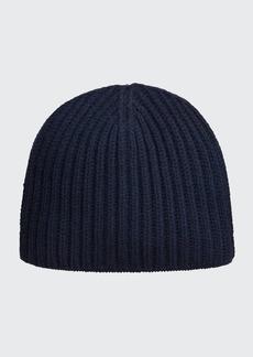 Neiman Marcus Men's Ribbed Cashmere Beanie Hat