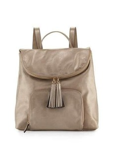 Neiman Marcus Metallic Faux-Leather Double Backpack