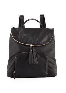 Neiman Marcus Metallic Faux-Leather Double Backpack