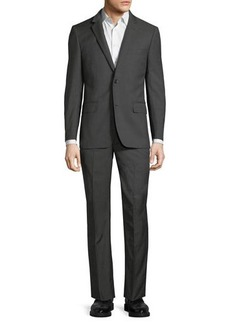 Neiman Marcus Modern Fit Super 120s Wool Two-Button Nailhead Two-Piece Suit