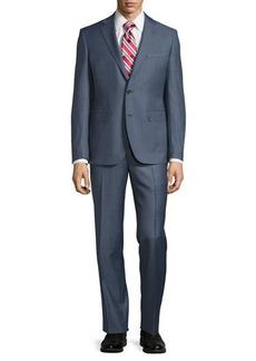 Neiman Marcus Modern-Fit Two-Piece Sharkskin Suit