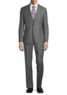 Neiman Marcus Modern-Fit Two-Piece Sharkskin Suit