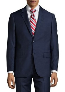 Neiman Marcus Modern-Fit Two-Piece Wool Suit