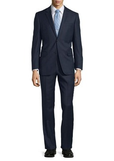 Neiman Marcus Modern-Fit Wool Two-Piece Textured Suit