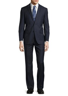 Neiman Marcus Modern-Fit Wool Two-Piece Tick Suit