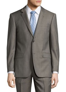 Neiman Marcus Modern-Fit Wool Two-Piece Suit