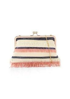 Neiman Marcus Multi-Fringe Sequin Clutch Bag