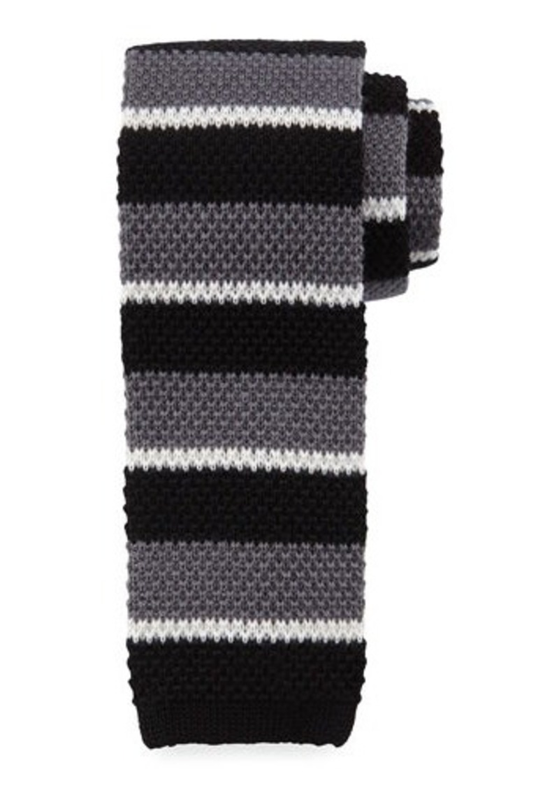 Neiman Marcus Multi-Stripe Wool Tie