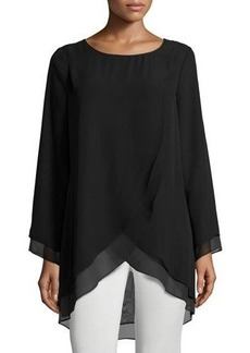 Neiman Marcus Multilayered Chiffon Tunic