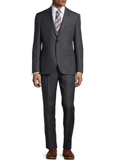 Neiman Marcus Modern-Fit Neat Two-Piece Suit