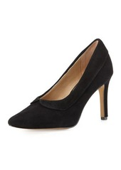 Neiman Marcus Nelson Scalloped Suede Pump