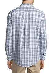 Neiman Marcus No-Iron Plaid Sport Shirt