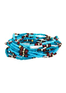 Neiman Marcus On the Bead Beaded Bracelet  Turquoise Color