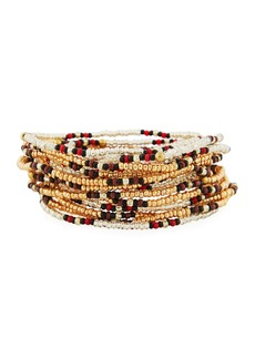 Neiman Marcus On the Bead Beaded Bracelet  Golden