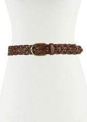 Neiman Marcus Open-Weave Braided Leather Belt