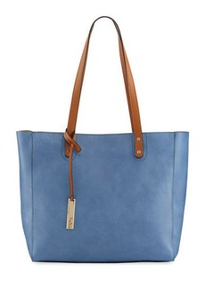 Neiman Marcus Organizer Faux-Leather Tote Bag
