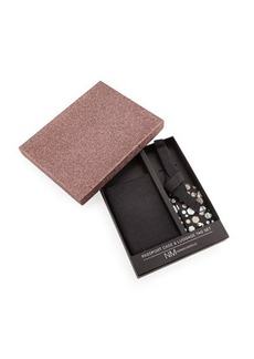 Neiman Marcus Passport Case & Luggage Tag Set