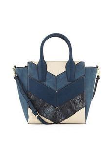 Neiman Marcus Patch Printed Satchel Bag
