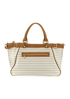 Neiman Marcus Patterned Fabric Weekender Bag