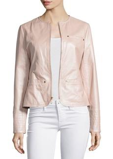 Neiman Marcus Pearlized Leather Jacket
