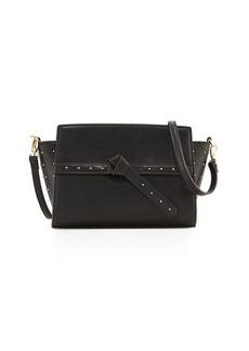 Neiman Marcus Pin Dot Wing-Side Crossbody Bag