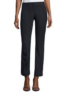 Neiman Marcus Polka-Dot Twill Straight-Leg Pants