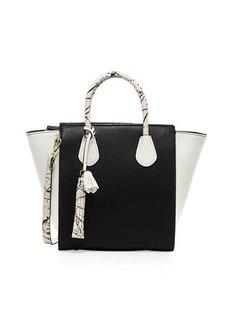 Neiman Marcus Pop Splatter Colorblock Satchel Bag