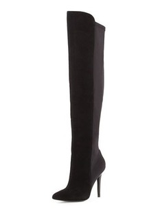 Neiman Marcus Power Suede Stretch Boot