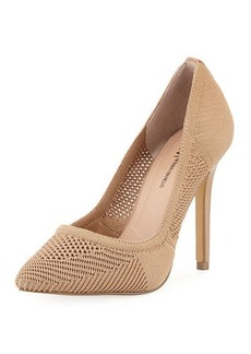 Neiman Marcus Primer Stretch-Knit Pump