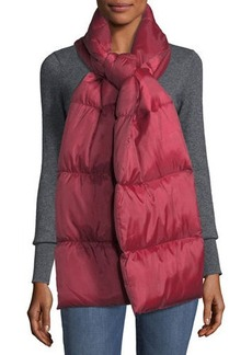 Neiman Marcus Puffer Scarf with Knit Lining