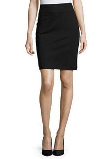 Neiman Marcus Pull-On Ponte Pencil Skirt