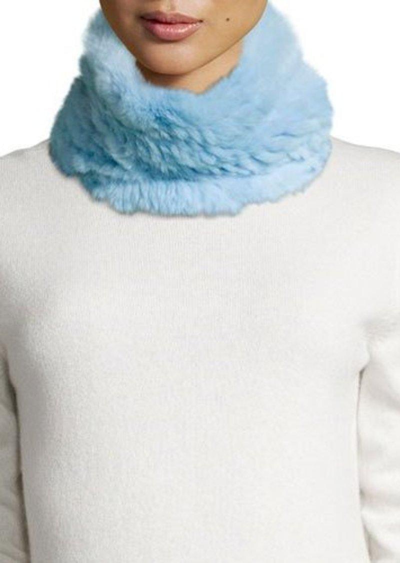 Neiman Marcus Rabbit Fur Cowl Collar