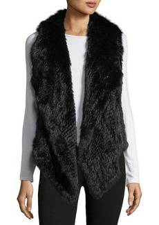 Neiman Marcus Rabbit Fur Envelope Vest