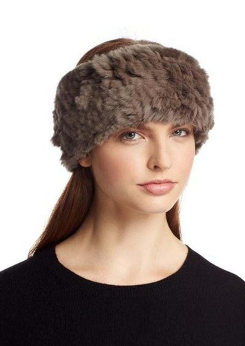 Neiman Marcus Rabbit-Fur Headband