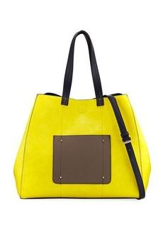 Neiman Marcus Reversible Colorblock Tote Bag