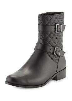 Neiman Marcus Rikki Quilted Leather Bootie