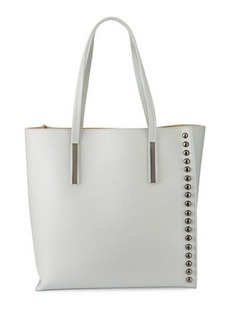 Neiman Marcus Ruga Leather Studded Tote Bag