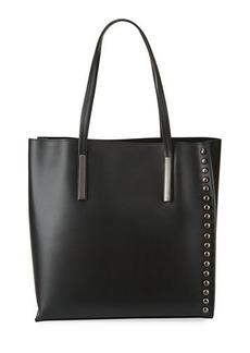 Neiman Marcus Ruga Leather Studded Tote Bag
