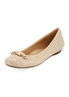 Neiman Marcus Sabrina Leather Flat