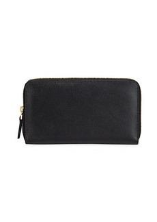 Neiman Marcus Saffiano Book-Style Zip Wallet