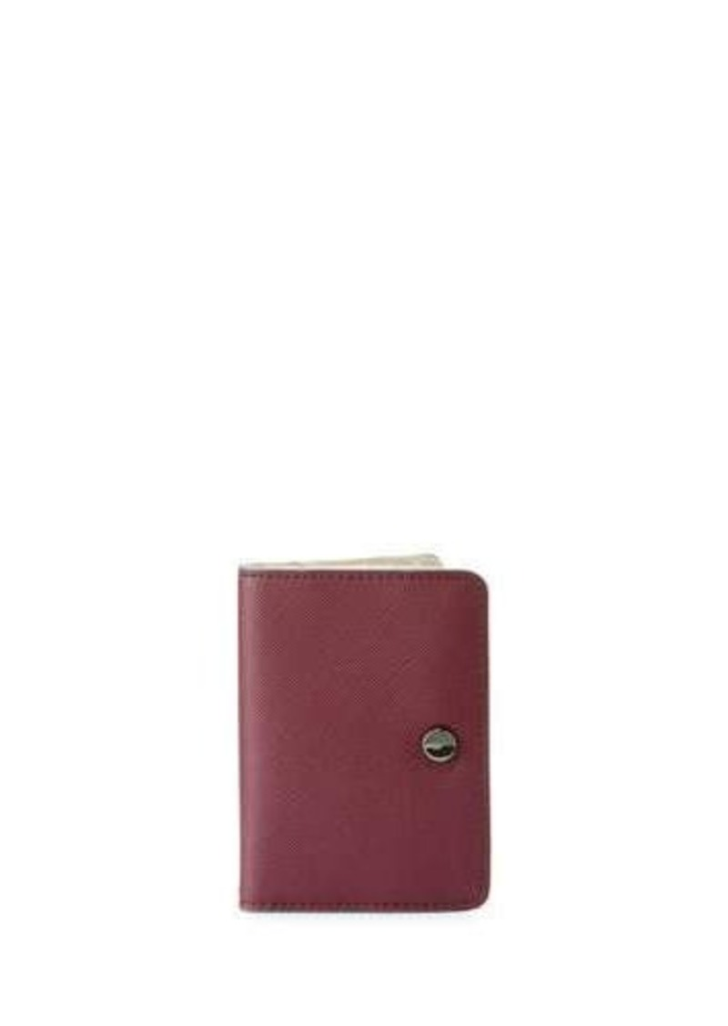 Neiman Marcus Saffiano Faux-Leather Snap Wallet