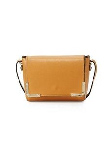 Neiman Marcus Saffiano Flap Crossbody Bag