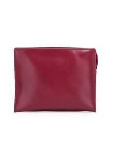 Neiman Marcus Saffiano Large Cosmetic Clutch Bag
