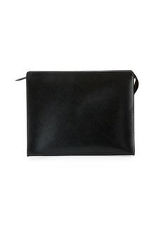 Neiman Marcus Saffiano Large Cosmetic Clutch Bag