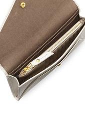 Neiman Marcus Saffiano Leather Envelope Wallet Set