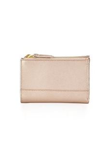 Neiman Marcus Saffiano Leather Fold-Over Wallet