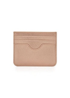 Neiman Marcus Saffiano Leather Small Card Case